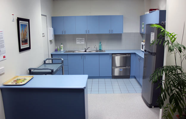 The Wang Central staff kitchen