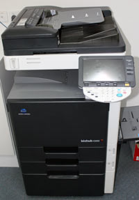 Our Konica Minolta networked photocopier/printer/scanner
